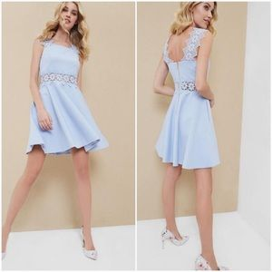 Ted Baker Palw Blue Monaa Lace A-Line Dress